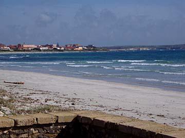 der Strand bei Putzu Idu im Westen von Sardinien, Italien