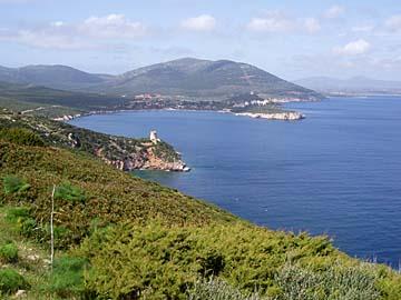 Landschaft am Capo Caccia im Westen von Sardinien, Italien
