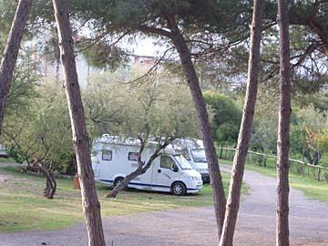 auf dem Campingplatz Mariposa in Alghero, Sardinien