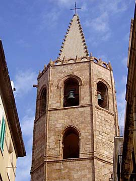 die Kirche San Francesco in Alghero, Sardinien