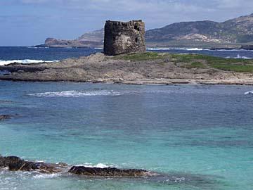 der Torre del Falcone am Capo del Falcone auf Sardinien, Italien