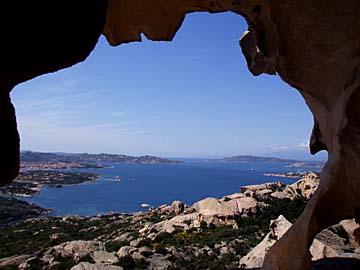 Aussicht am Capo d`Orso auf Sardinien