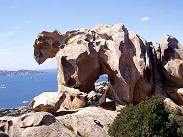 der Bär vom Roccia dell`Orso auf Sardinien, Italien