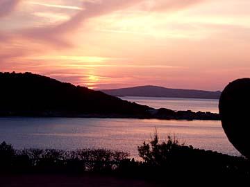 Sonnenuntergang bei Arzachena auf Sardinien, Italien