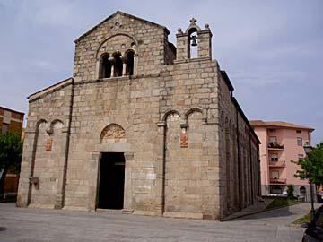 die Kirche San Simplicio in Olbia auf Sardinien