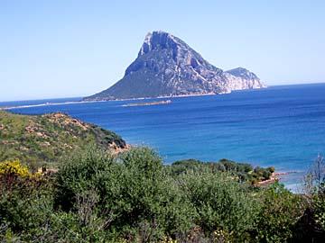 die Isola Tavolara im Norden von Sardinien, Italien