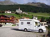 Unser Wohnmobil in Rain bei Taufers in Südtirol