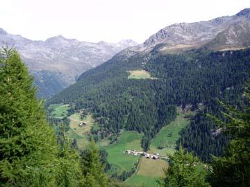 Ausblick beim Aufstieg zur Hochgall- und Kassler Hütte