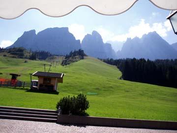 der Ausblick vom Kreuzbergpaß, Südtirol