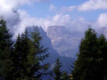 der Dolomitenblick vom Karmischen Höhenweg, Südtirol