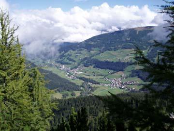 Blick in das Sextener Tal in Südtirol
