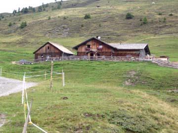 an der schön gelegenen Klammbachalm, Südtirol