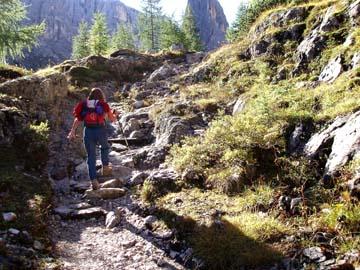 unser Aufstieg zur Zygmondi Hütte, Südtirol