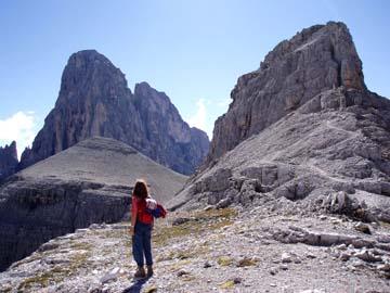 der Ausblick zum Zwölferkofel, Südtirol
