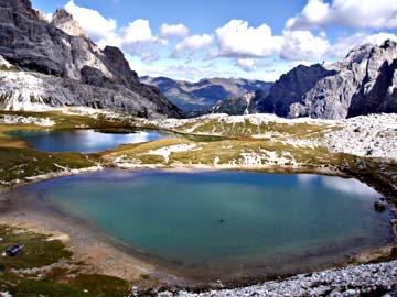 die Bödenseen in den Sextner Dolomiten, Südtirol