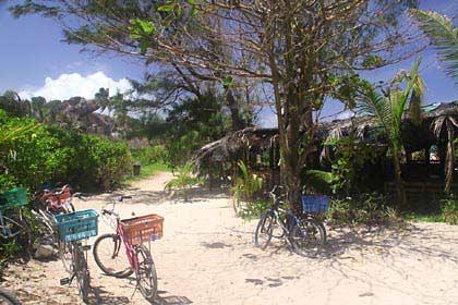 Am Strand von Grand Anse im Südosten von La Digue