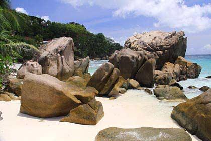 An diesem Strand auf den Seychellen werden wir heiraten