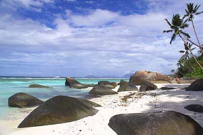 Nördlich des Labriz Resorts befindet sich ein idyllischer Strandabschnitt