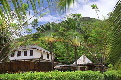 Das Farmerhaus der Familie Dauban auf Silhouette