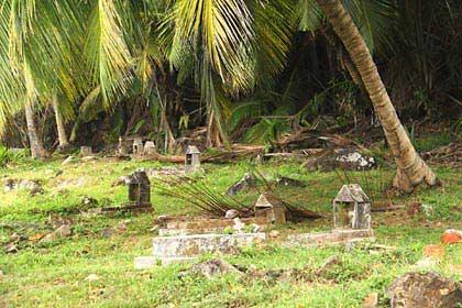 Das alte Friedhof von Silhouette