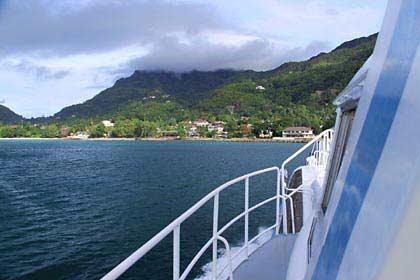 Die Anfahrt auf die Insel Mahé