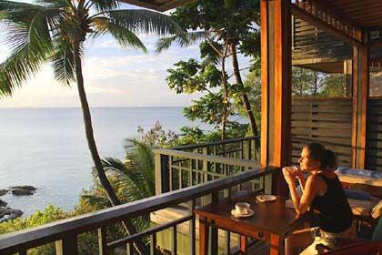 Ein Sonnenuntergang auf unserer Terrasse auf Mahé