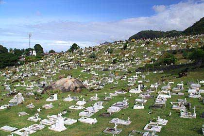 Der Friedhof von Mont Fleuri Ward bei Victoria