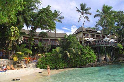 Der Strand des Hilton Hotels auf den Seychellen