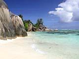 Der Strand von Anse Source d'Argent auf der Seychellen Insel La Digue