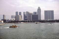 Boote auf dem Singapore River