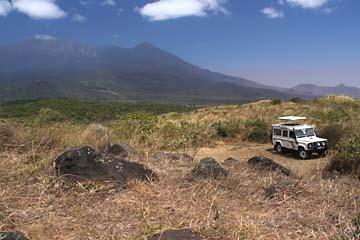 Der Mt. Meru vom Aussichtspunkt Boma la megi im Arusha Nationalpark