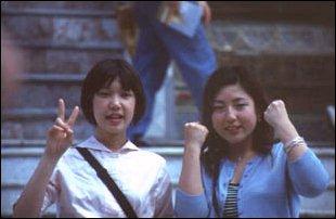 zwei junge Japanerinnen im Königspalast, Bangkok, Thailand