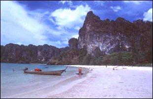 am Rai Leh West Strand bei Ao Nang, Thailand