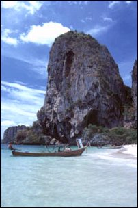 am Phra Nang Strand bei Ao Nang, Thailand
