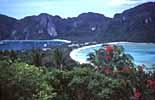 Der Halbmondstrand auf der wunderschönen thailändischen Insel Ko Phi Phi