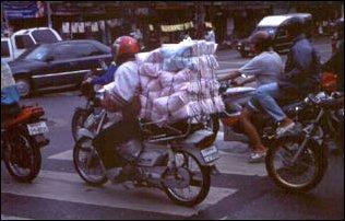der Verkehr in Bangkok, Thailand