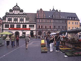 der Markt zu Weimar, Thüringen