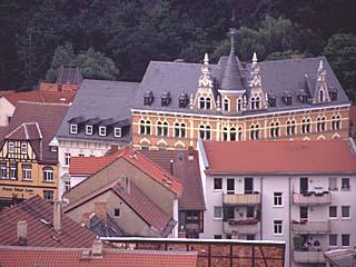 die Aussicht auf das Schloß von der Osterburg, Thüringen