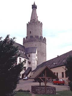 der Stufenturm der Osterburg in Weida, Thüringen