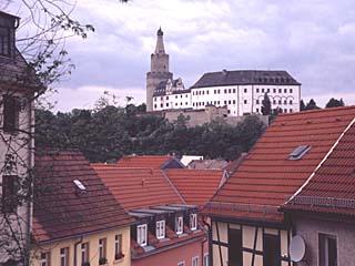 die Osterburg in Weida von der Widenkirche aus, Thüringen