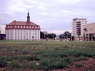 die Innenstadt von Gera, Thüringen