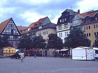 am Markt von Jena, Thüringen