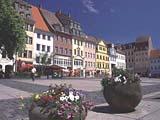 Der Marktplatz von Altenburg in Thüringen