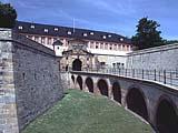Die Zitadelle zu Erfurt in der Landeshauptstadt Thüringens