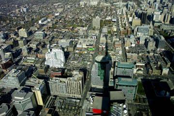 Blick auf Toronto vom CN Tower, Toronto, Kanada