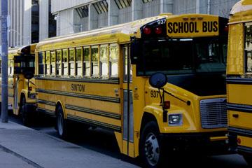 Schulbus Downtown Toronto, Kanada