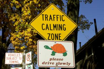 Verkehrsberuhigte Zone bei den Toronto Beaches, Kanada
