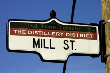 Old Mills, Distillery District in Toronto, Kanada