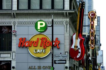 Hard Rock Cafe auf der Yonge Street, Toronto, Kanada