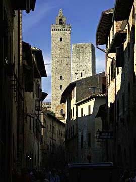 Die Türme von San Gimignano in der Toskana, Italien
